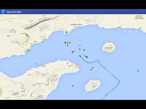 MAERSK TIGRIS Track before and after the Iranian forces seize the US cargo