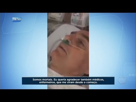 Após facada, Bolsonaro grava vídeo no hospital e fala pela primeira vez sobre o ataque