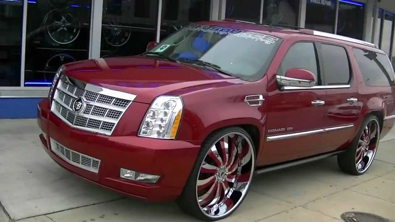 2012 Cadillac Escalade Platinum For Sale >> 2012 Escalade Platinum On 30 Inferno Forgiatos Youtube