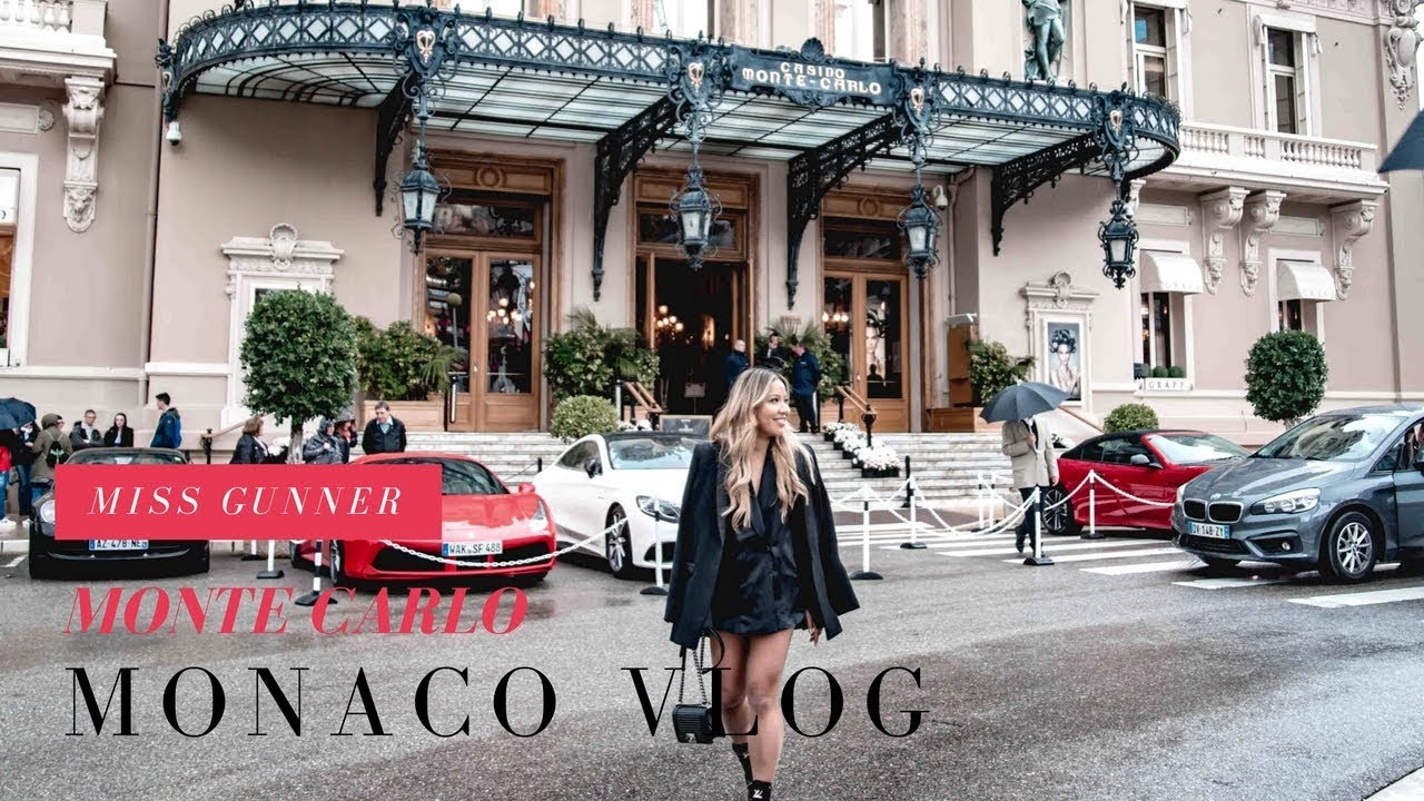 Monaco Vlog 2018   Hotel Hermitage   Monte Carlo Casino   Miss Gunner   Ashley Schuberg