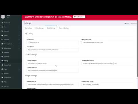 StreamTube Admin - Payment Setting Walkthrough
