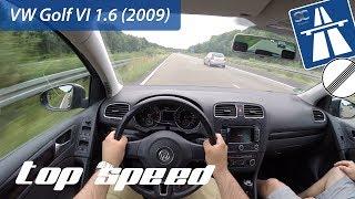 VW Golf 6 1.6 (2009) on German Autobahn - POV Top Speed Drive
