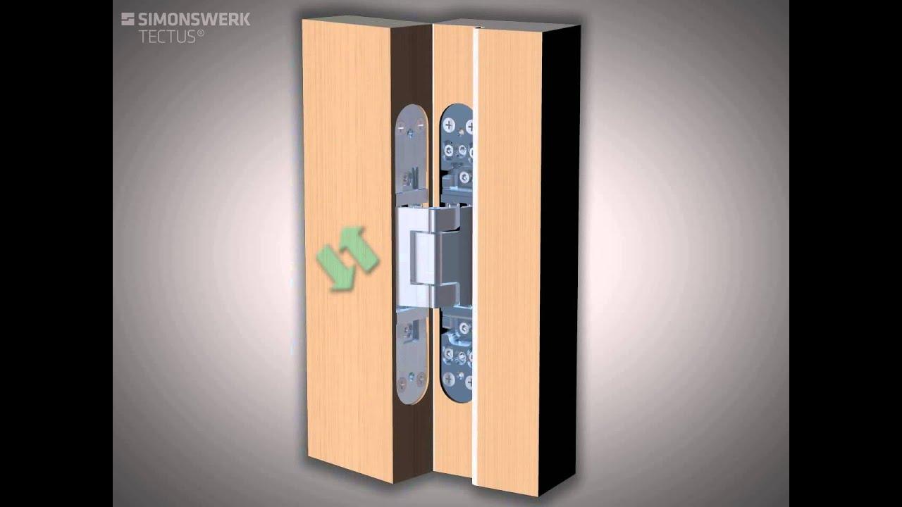 C mo colocar las bisagras ocultas simonswerk tectus youtube - Bisagras para madera ...