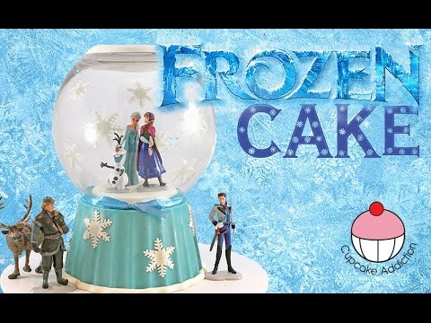 Make Frozen Themed Ice Cream Cake Youtube