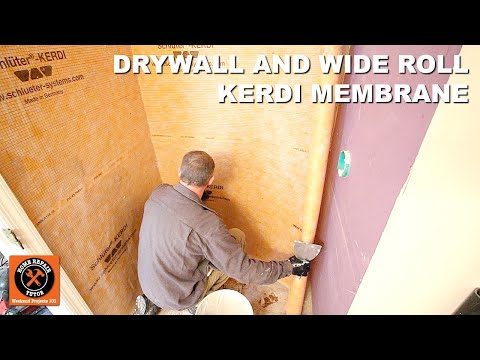 Schluter Shower Part 1: Drywall and Wide Roll Kerdi Membrane