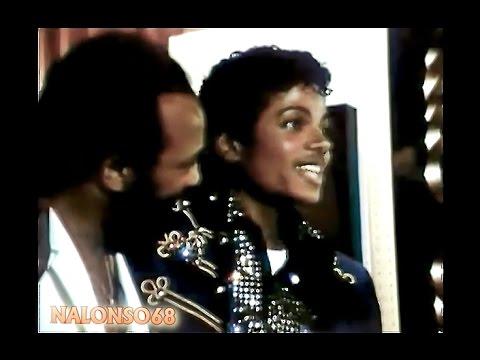 Michael Jackson and Quincy Jones receives Platinum Award 1983 HD