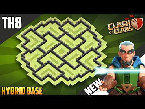 New Epic TH8 HYBRID/TROPHY Base 2018!! COC Town Hall 8 (TH8) Hybrid Base Design - Clash of Clans