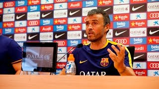 Luis Enrique sees a tight battle for the league ahead(The Barça coach thinks this season 'will be a tight one with several teams challenging for the title'. Ahead of the game with Athletic, the Asturian sees the clash ..., 2015-08-22T13:36:27.000Z)