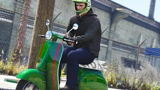 Moped Pizza Delivery - Los Santos Goes to Work - Day 52