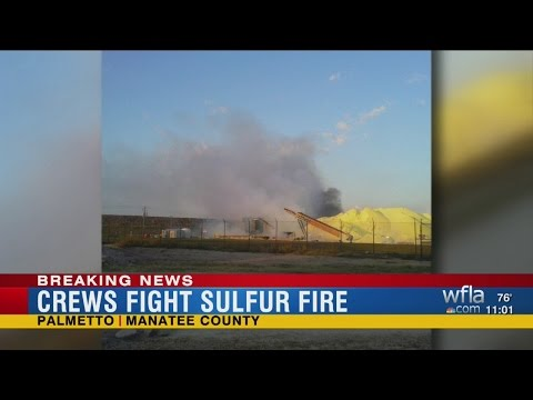 5 workers hospitalized after sulfur fire at Port Manatee