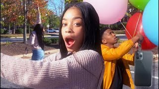 TYING SISTER'S PHONE TO BALLOONS & SURPRISING HER W/ iPhone 11 Pro Max