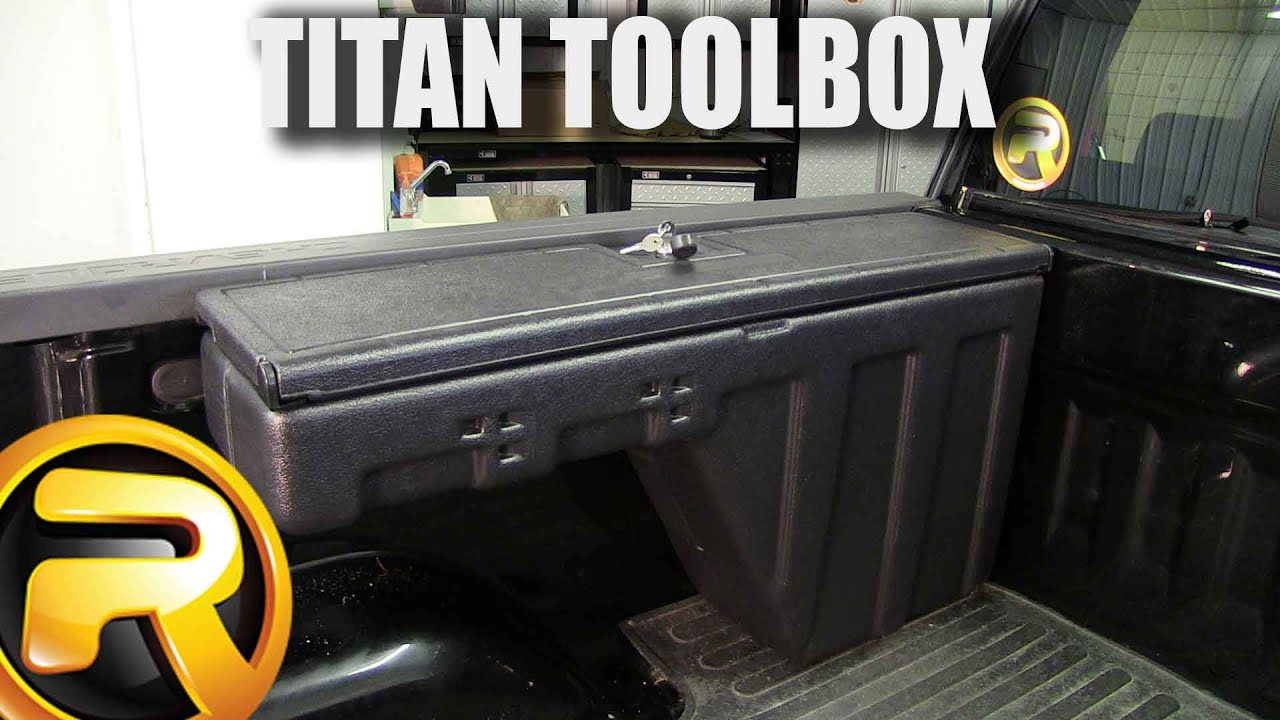 Titan Side Bed Wheel Well Toolbox Fast Facts Youtube