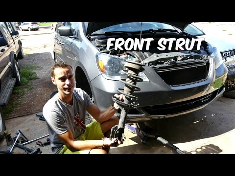 HONDA ODYSSEY FRONT STRUT SHOCK REPLACEMENT REMOVAL