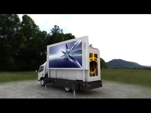 Deluxe Hydraulic-lift Mobile Advertising LED Screen Truck For Sale