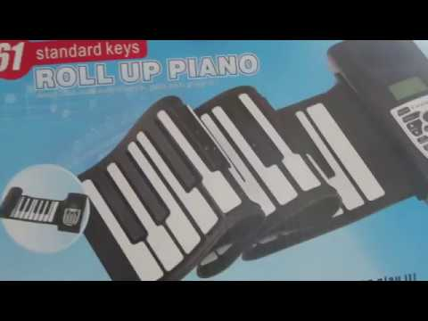 61 Roll up Piano unboxing demo