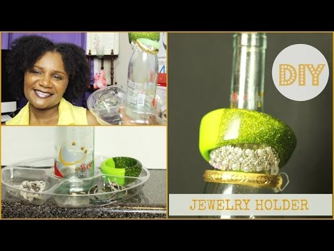 Empty Wine Bottle? Recycle It - Creative DIY Jewelry Holder | thecreativelady