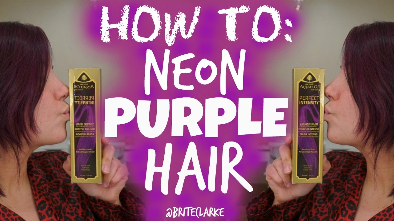 How To Purple Hair Using One N Only Argan Oil Hair Color I