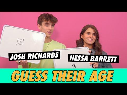 Josh Richards vs. Nessa Barrett - Guess Their Age