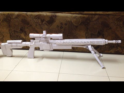 HOW TO MAKE A PAPER SNIPER RIFLE THAT SHOOTS(ACCURACY INTERNATIONAL AX308)