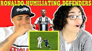 Only C. Ronaldo Can Humiliate Defenders THIS Way REACTION