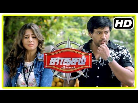Saahasam Tamil movie   Scenes   Prasanth and Sonu plan to take revenge on each other   Amanda