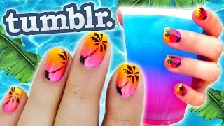 tropical-nails-tumblr-inspired