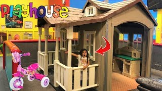 Sally Pretend Play w/ Giant Indoor Playhouse kids Toy