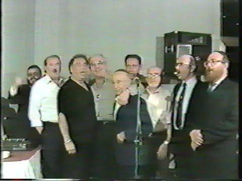A party with M. Stern, B.Z Miller, Ch. Adler, A. Braun, P. Rabinovicz, S. Zim, I. Eshel, Sh. Taube.