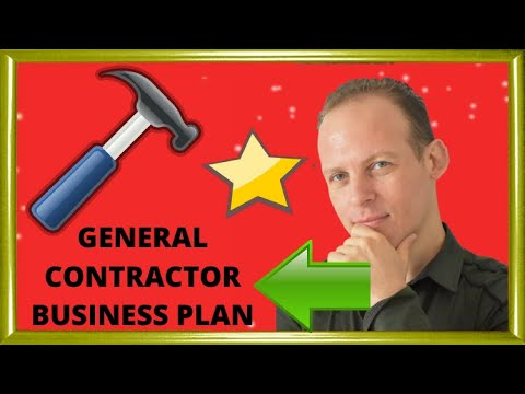 General contracting business plan