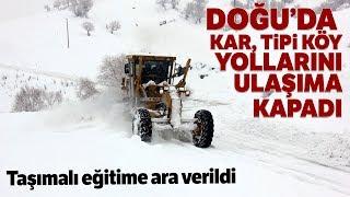 Erzincan'ın Refahiye'de Kar Yağışı Nedeniyle Taşımalı Eğitime Ara Verildi