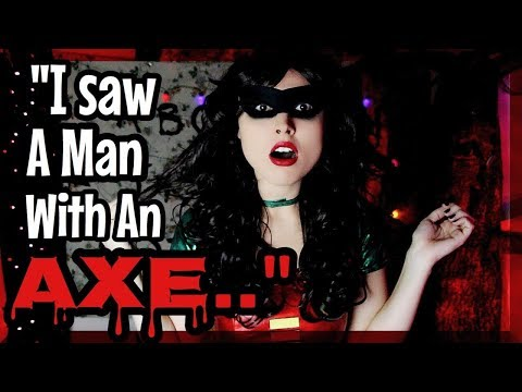 I SAW A MAN WITH AN AXE.. SCARY HALLOWEEN STORY!