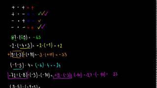Celá čísla - násobení a dělení 2