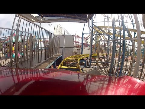 Tulsa State Fair: Comet II roller coaster shot with GoPro