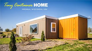 Tiny Shipping Container House In Viroqua, Wisconsin, Usa