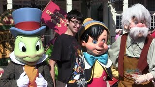 Pinocchio, Geppetto & Jiminy Cricket meet-and-greet for Long Lost Friends week at Walt Disney World