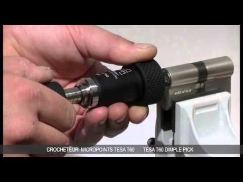 Взлом отмычками Tesa T60  Инструмент. Lock picking tool for TESA T60 -