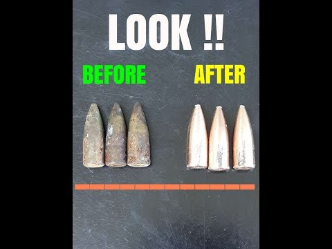 How to... Cleaning Brass Bullets... REAL RESULTS !