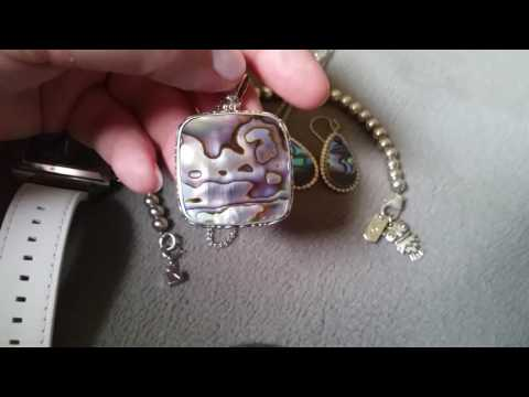 Abalone and silver jewelry