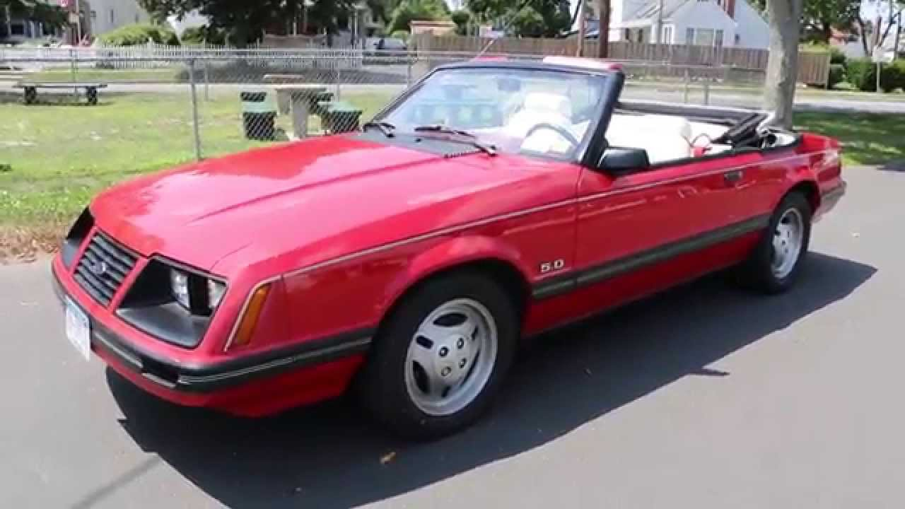 1983 ford mustang glx 5 0 convertible for sale 5 speed. Black Bedroom Furniture Sets. Home Design Ideas