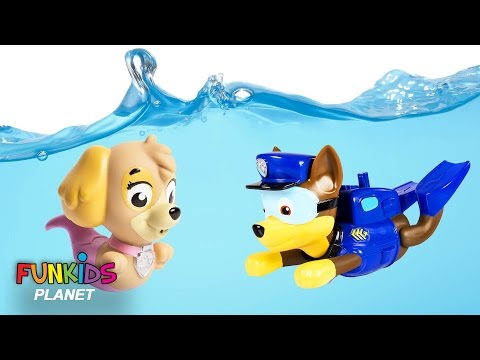 Thumbnail: Learning Colors for Children: Paw Patrol Skye & Chase Scuba Dives with Moana Maui in Swimming pool