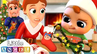 Deck The Halls | Christmas Song | Little Angel Nursery Rhymes & Kids Songs