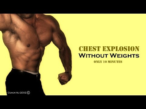 chest workout at home no equipment 10 mins  youtube