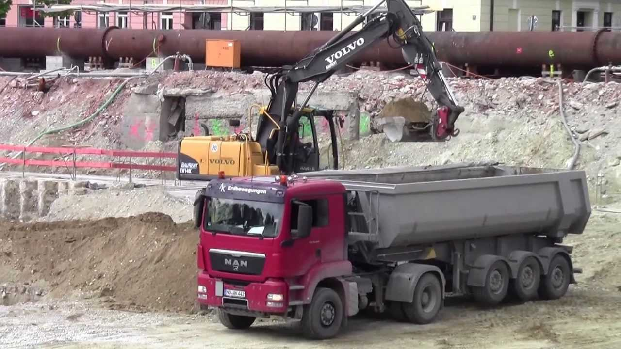 baustelle lkw bagger 1 youtube. Black Bedroom Furniture Sets. Home Design Ideas
