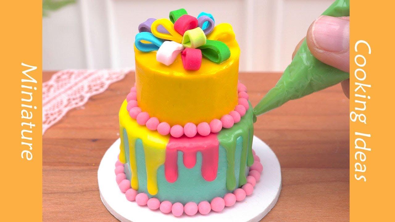 Satisfying Miniature Rainbow Cake Decorating #YumupMiniature