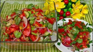 Sałatka z Bobem Pomidorami i Papryką - Smaczna i Zdrowa