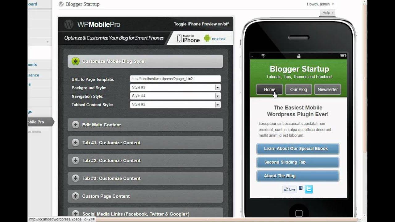 WPmobilepro MobileOptimizer WordPress Plugin - Optimize Any