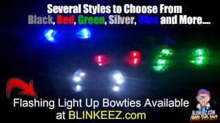 Flashing LED Light Up Bowties with Flashing LEDs at BLINKEEZ.com - Flashing Fun!