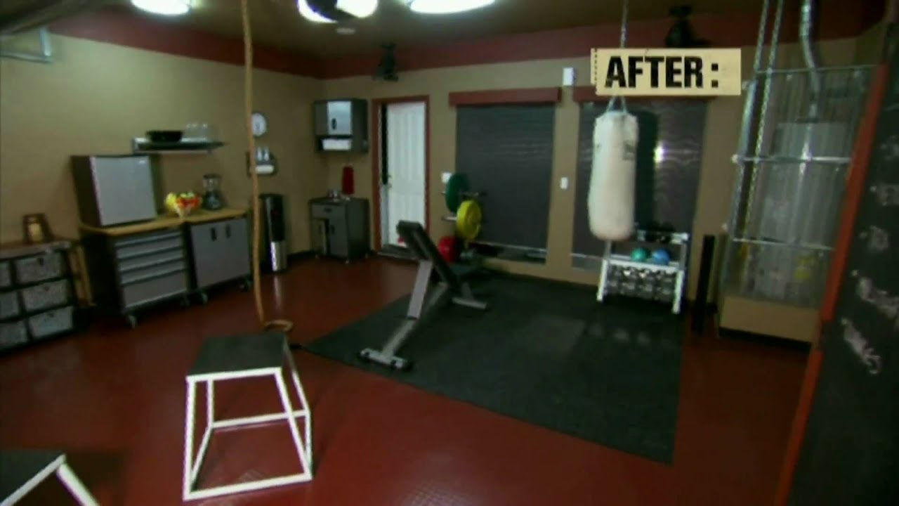House Crashers Remodels Garage to Home Gym  YouTube