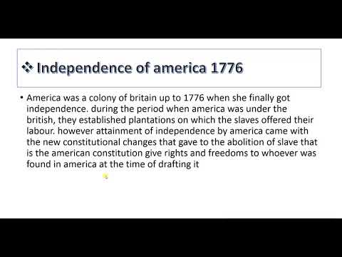 REASONS FOR ABOLITION OF SLAVE TRADE