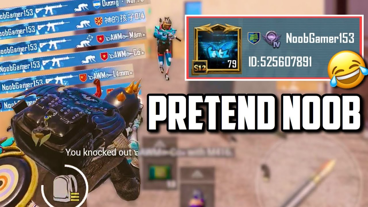 Pretending to be a NOOB & I DESTROYED SQUADS!! | PUBG Mobile